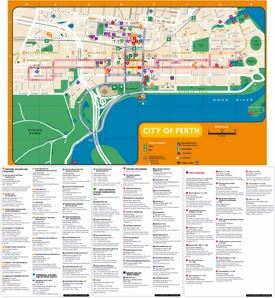 Perth art and culture map