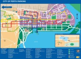 Perth parking map