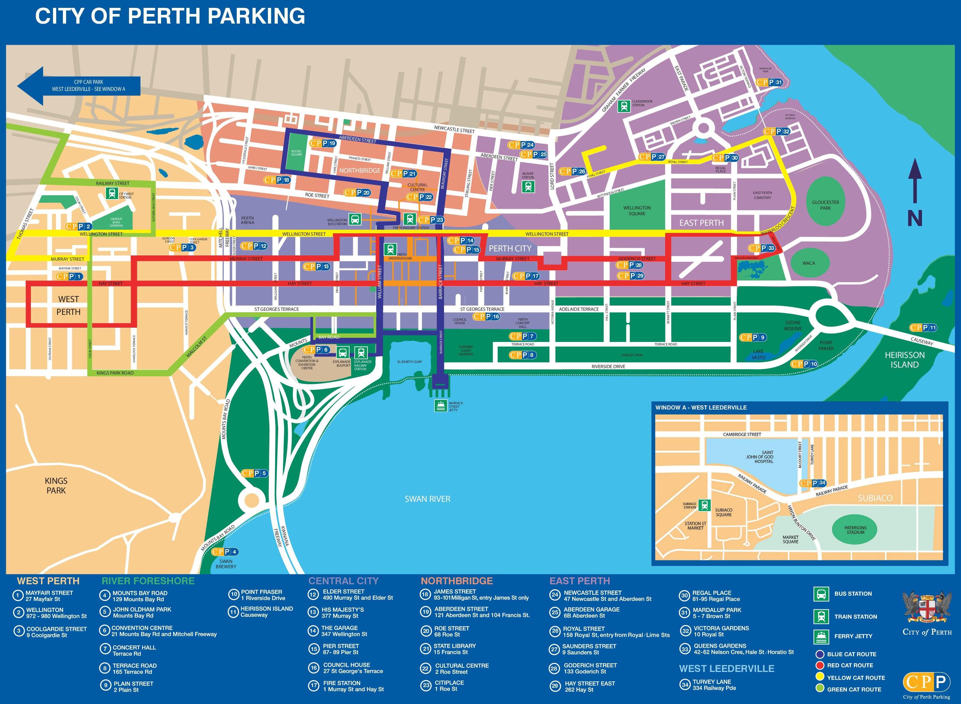 Cheap Car Parking In Perth City