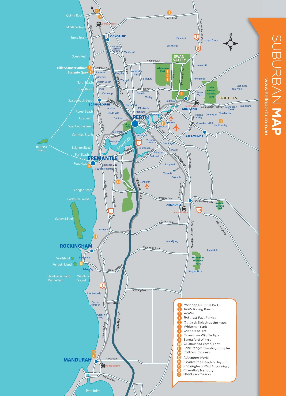Map Perth Suburbs Perth suburbs map