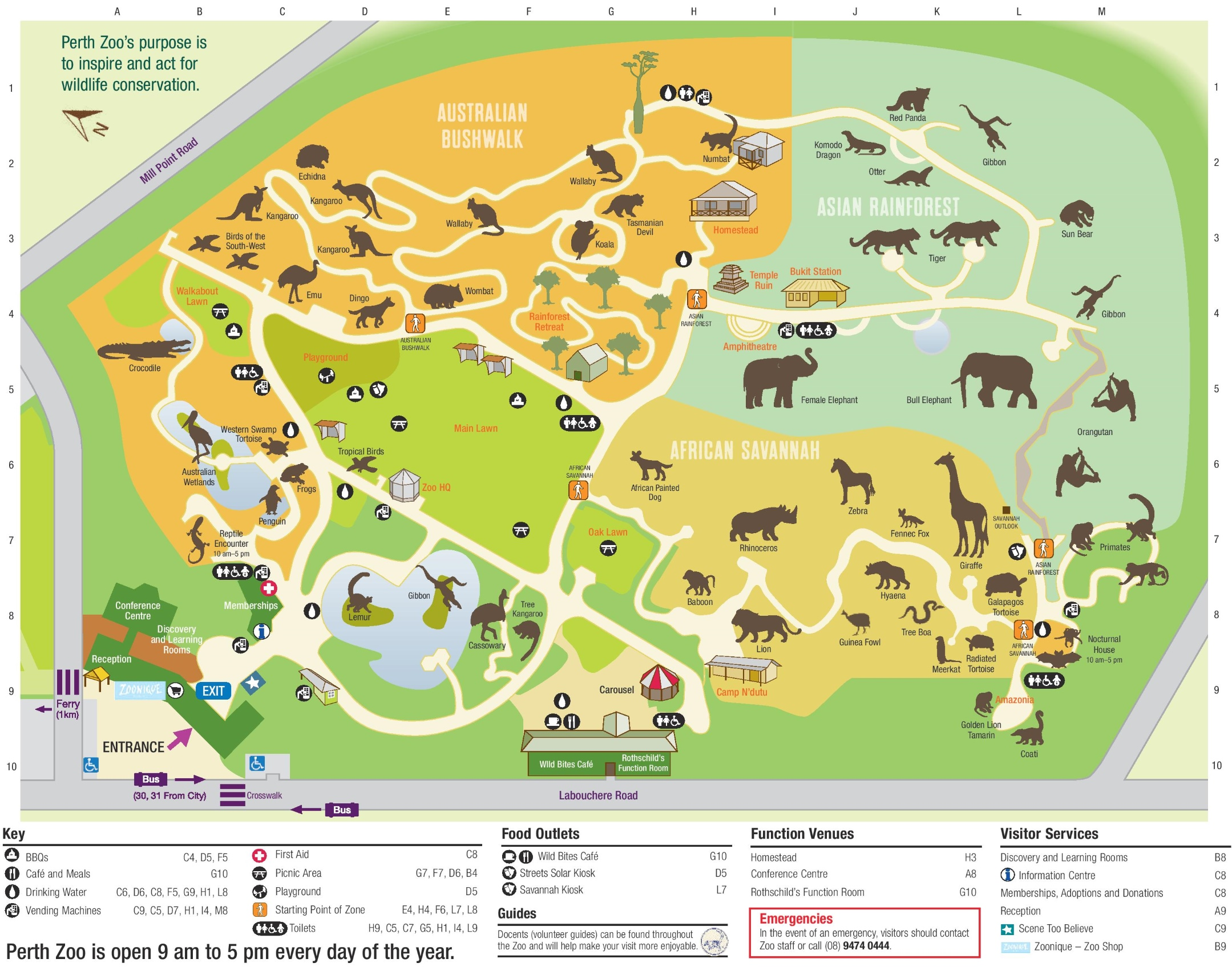 Perth Zoo Map Perth Zoo map
