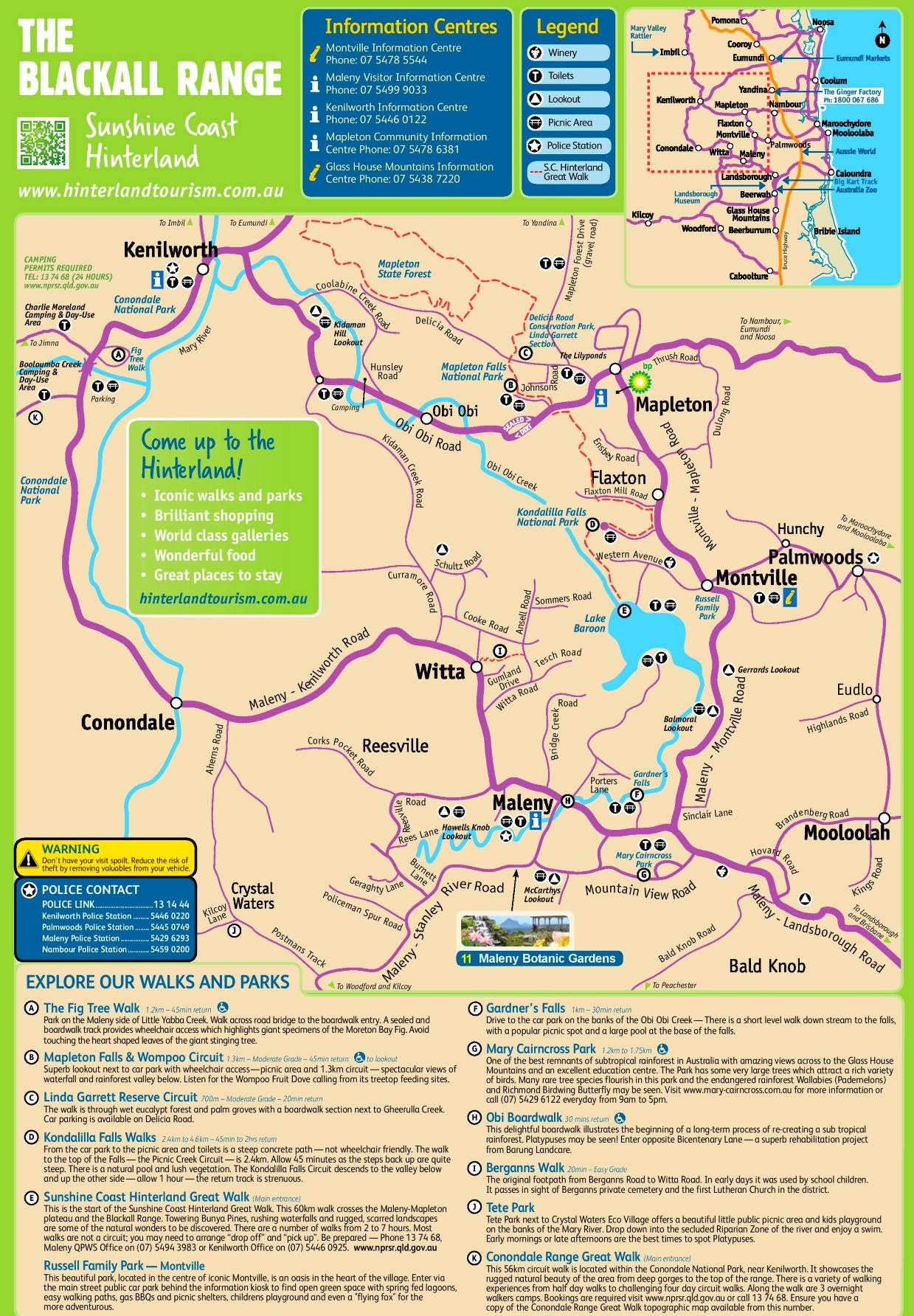 Blackall Range map