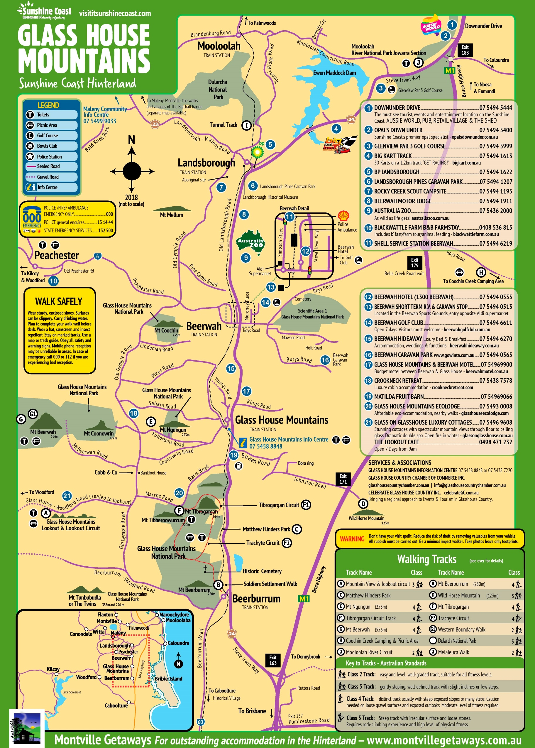 Glass House Mountains map