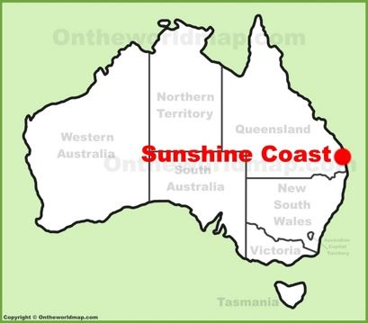Sunshine Coast Location Map