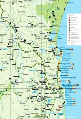Sunshine Coast tourist map