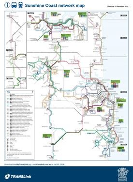 Sunshine Coast transport map
