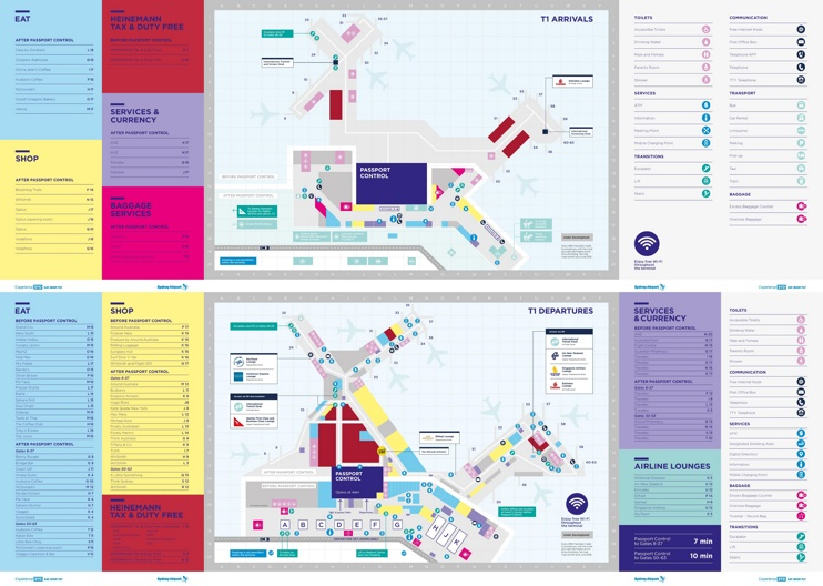Sydney airport terminal 1 map