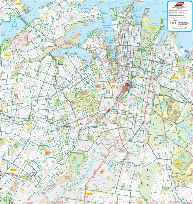 Sydney bike map