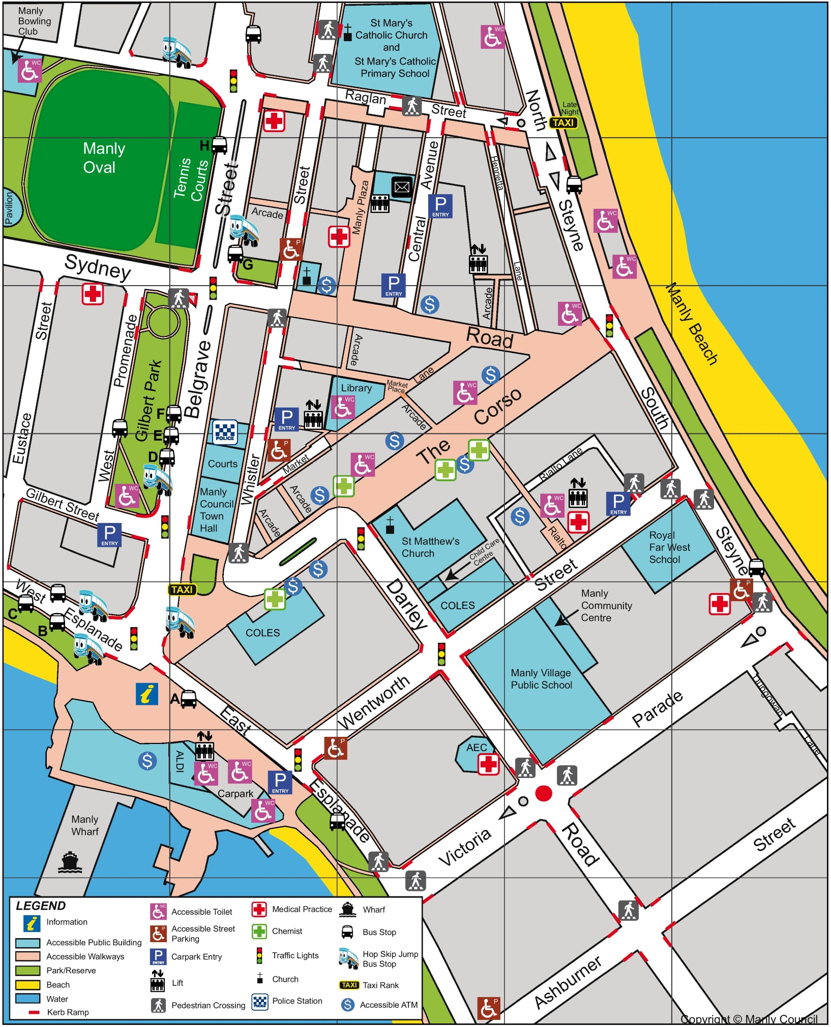 Sydney CBD map – Tourist Map of Sydney