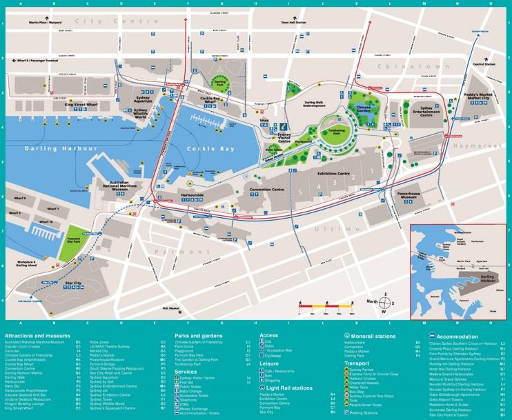 Sydney Darling Harbour map