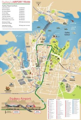 Sydney hotels and sightseeings map