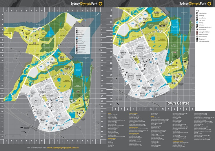 Sydney Olympic Park map