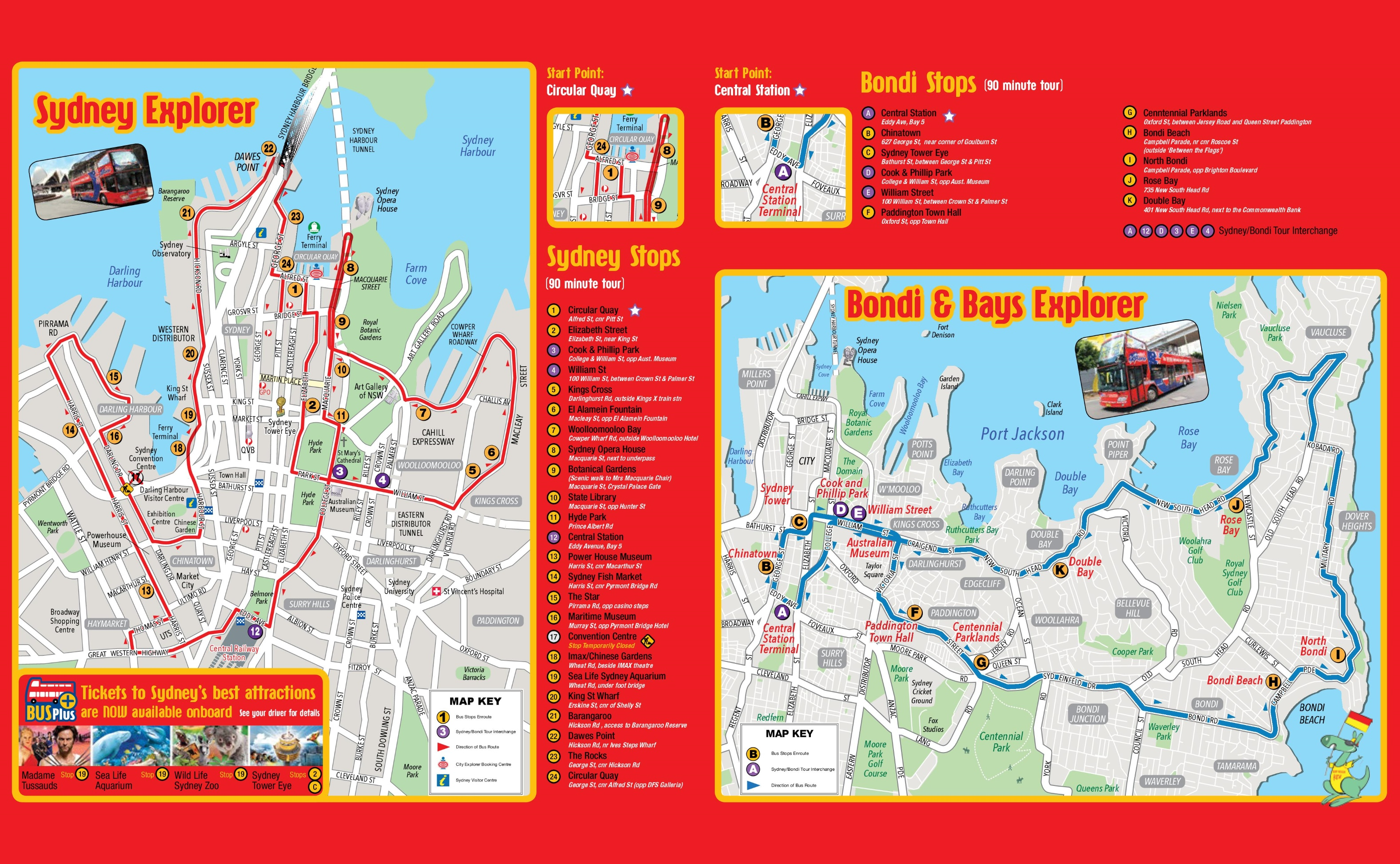Sydney sightseeing map