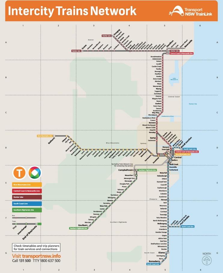Sydney train map