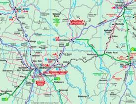 Tamworth area map