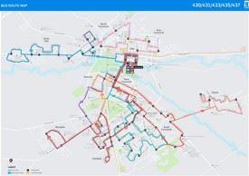 Tamworth Bus map