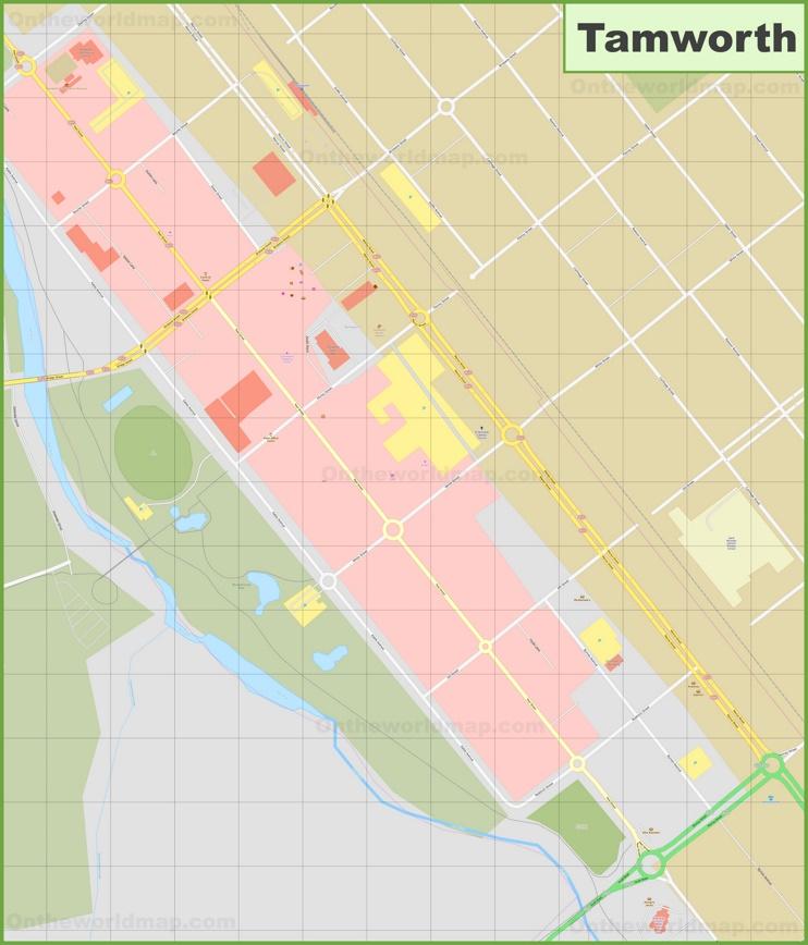 Tamworth CBD map