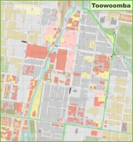 Toowoomba CBD map