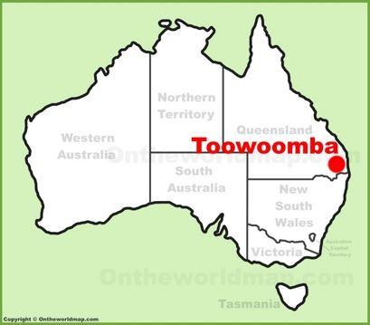 Toowoomba Location Map