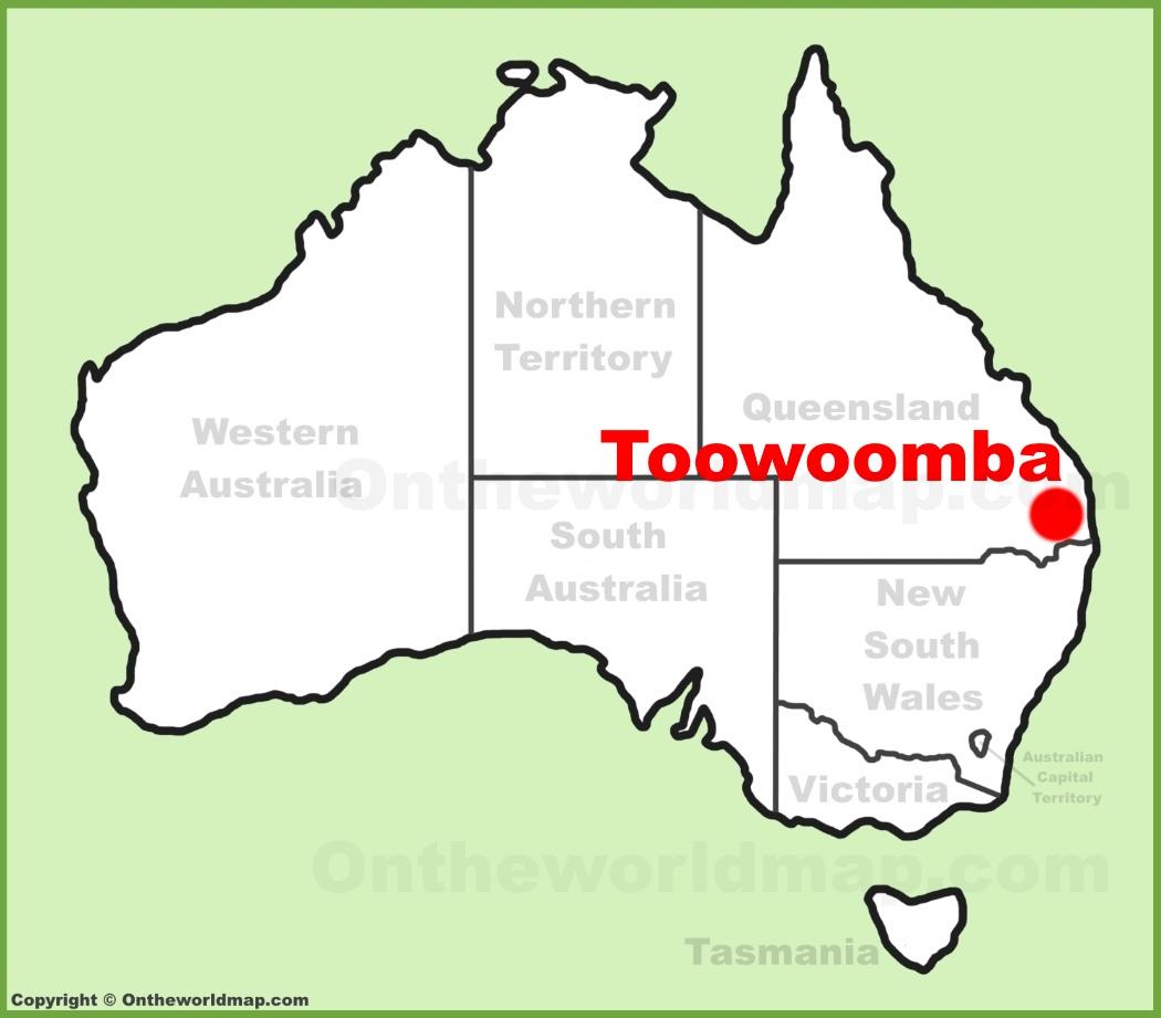 Toowoomba location on the Australia Map