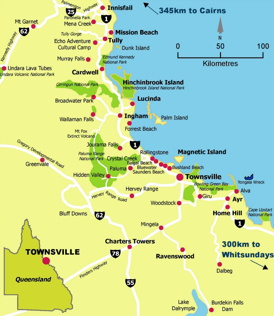 Townsville area map