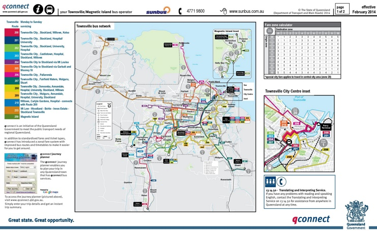 Townsville Bus map