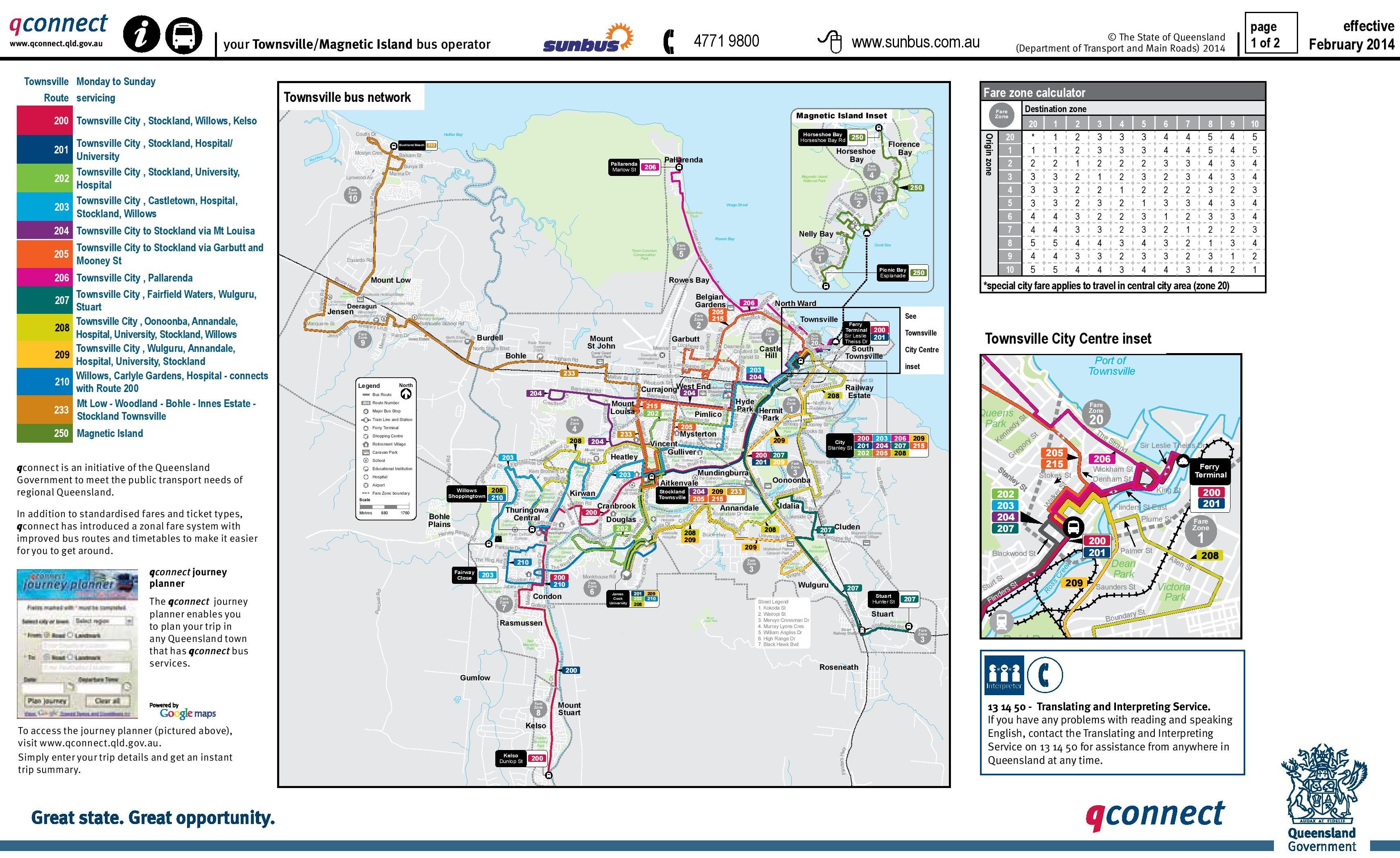Townsville Bus map