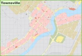 Townsville CBD map