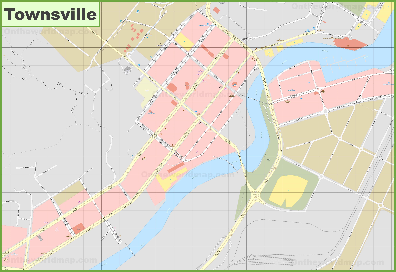 Townsville CBD map
