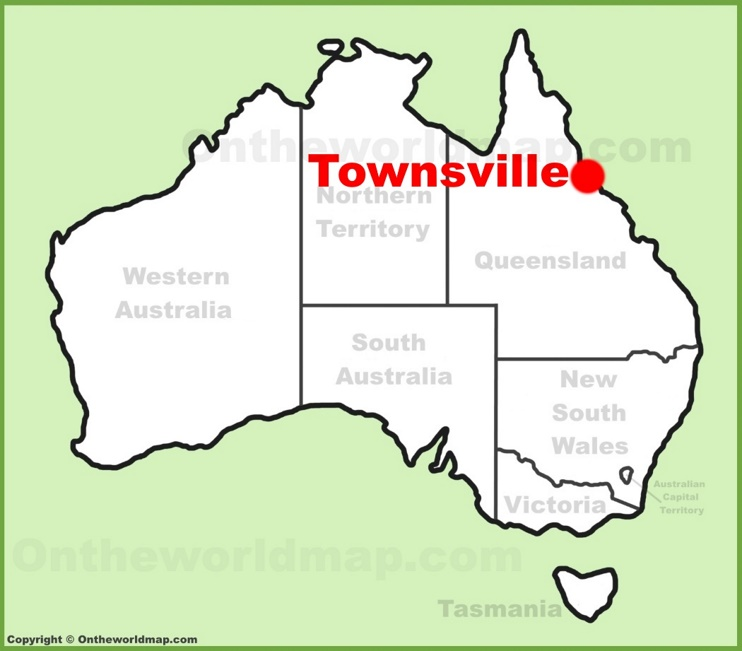 Townsville location on the Australia Map