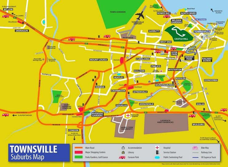 Townsville tourist map