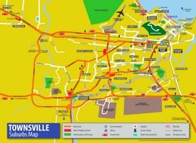 Townsville tourist map