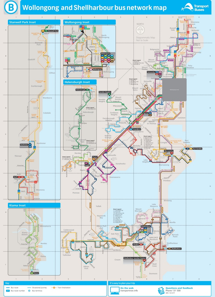 Wollongong Bus map