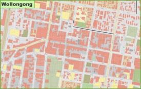 Wollongong CBD map