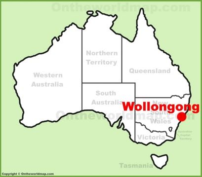 Wollongong Location Map