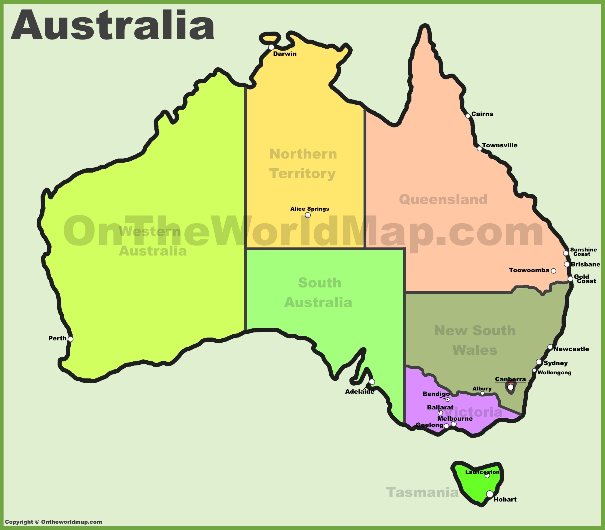 Australia In World Map.Australia Maps Map Of Australia