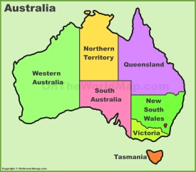 australia states and territories map