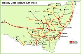 New South Wales railway map