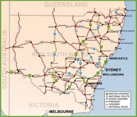New South Wales road map