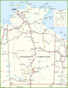 Map Of Nt Northern Territory Maps | Australia | Maps of Northern Territory (NT)
