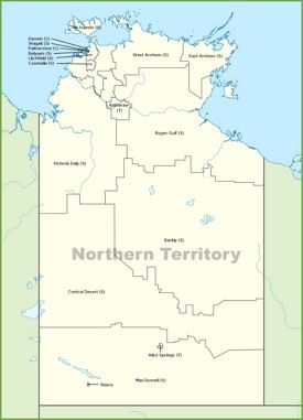 Northern Territory local government area map