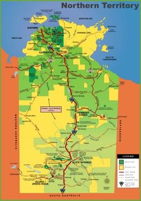 Northern Territory tourist map