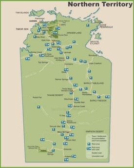 Northern Territory travel map
