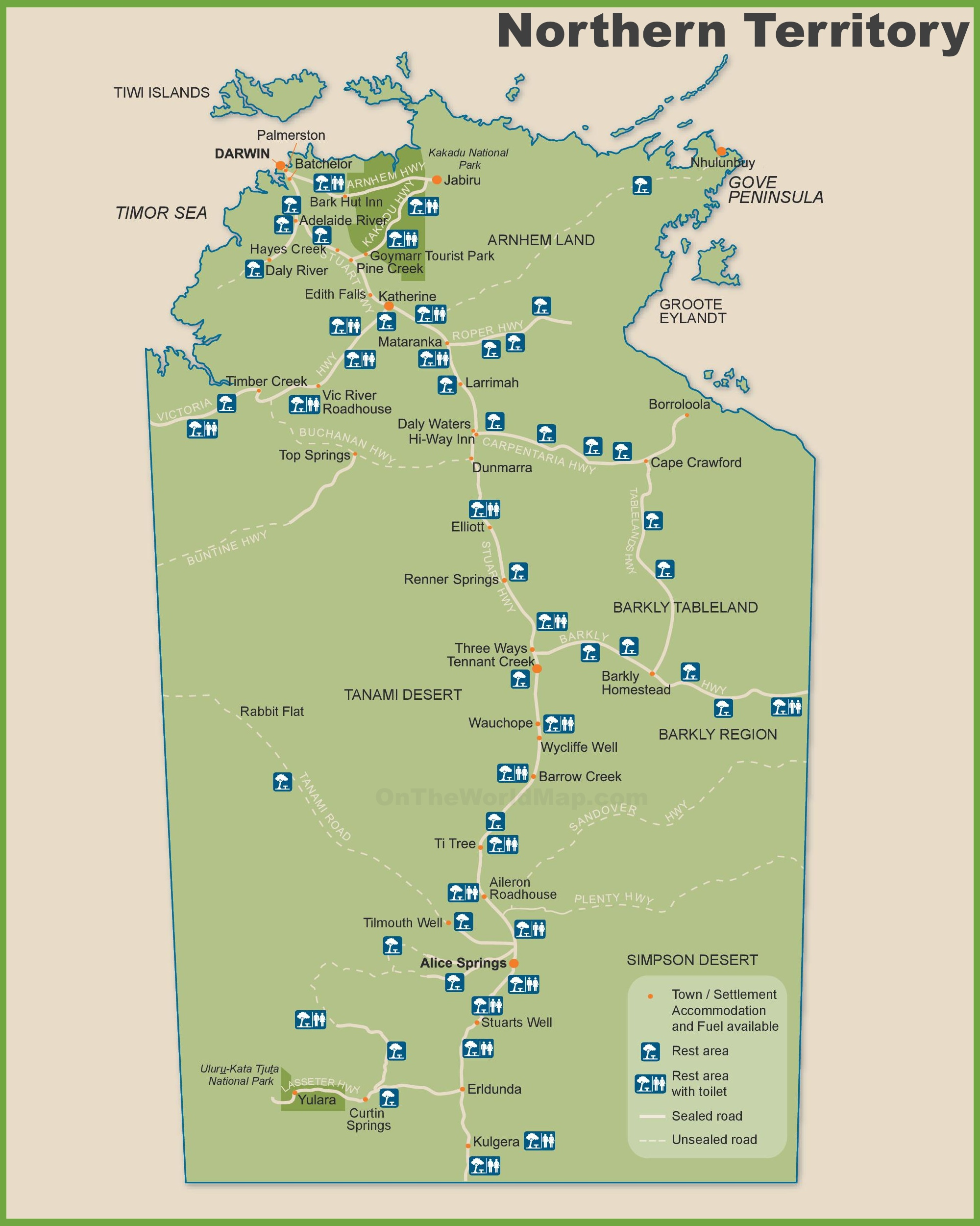 Northern Territory Maps Australia Maps of Northern Territory NT