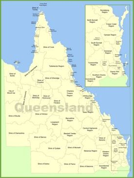 Queensland local government area map
