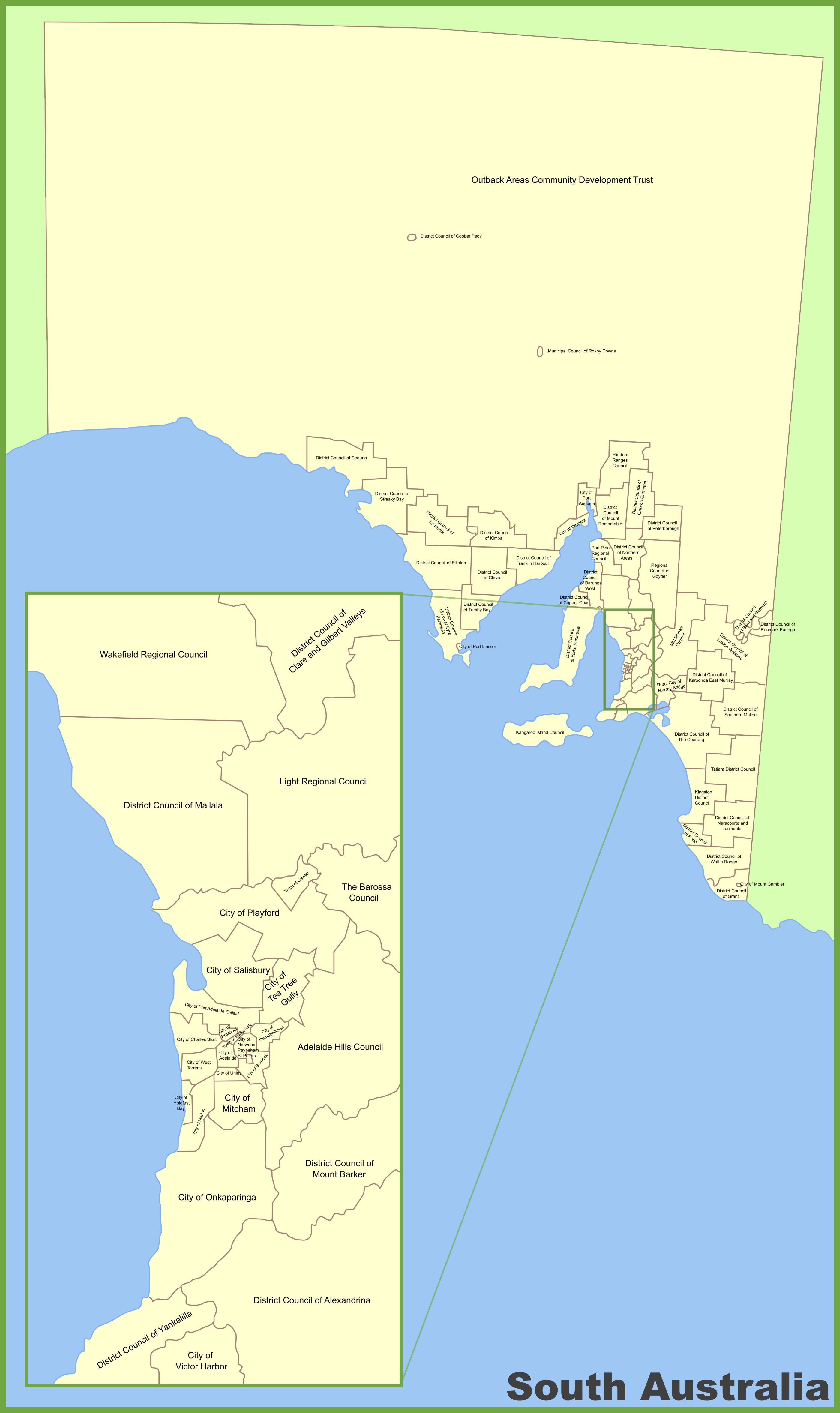 south australia local government area map