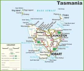 Map Of Australia And Tasmania.Tasmania Maps Australia Maps Of Tasmania Tas