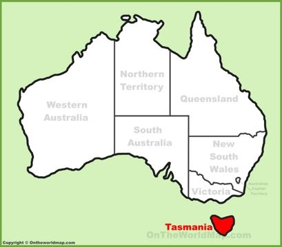 Tasmania Location Map