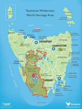 Tasmania national parks map