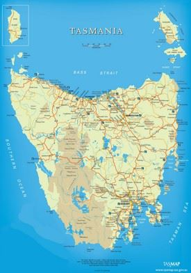 Tasmania tourist map